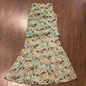 Liz Claiborne Blouse & Skirt